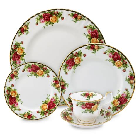 royal albert country roses dinner set 20pce s of kensington