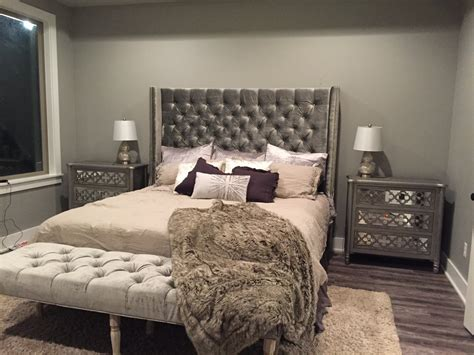 tall wingback headboard diamond tufted wingback headboard and bench set king extra
