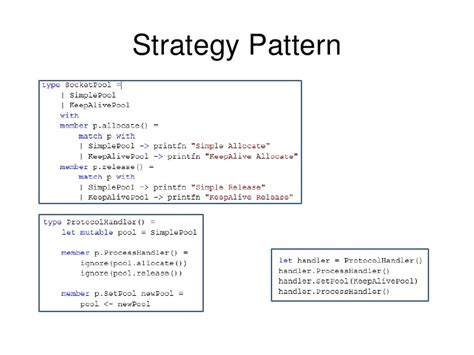 strategy pattern net exle design pattern in functional language