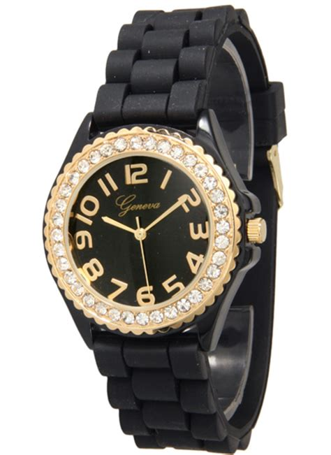 geneva women s embellished silicone watches
