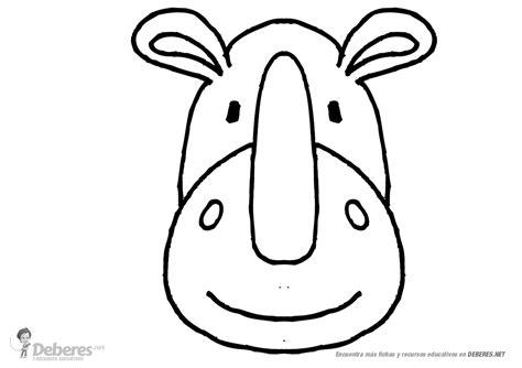 imagenes para colorear rinoceronte rinoceronte para dibujar y colorear infantil
