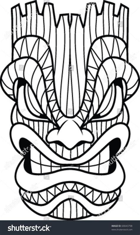 Masker Line stock vector tribal tiger vector illustration