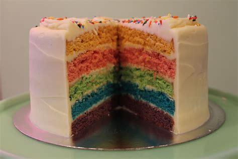 layered rainbow rainbow layer cake