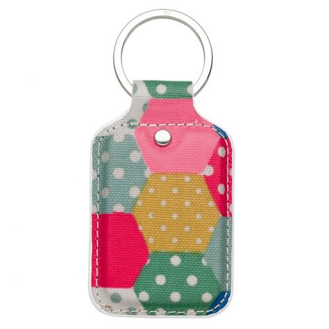 Patchwork Accessories - cath kidston patchwork spot key fob colourful pvc keyring