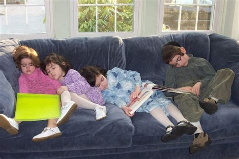 kids on couch solving kids sleeping problems the morning after