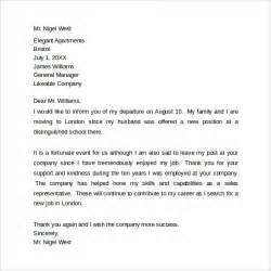 Thank You Letter Boss Last Working Day sample farewell letters to coworkers 12 documents in word pdf