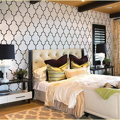 Bedroom Painting Ideas Stencils Home Decor Wall Stencils Modern Bedroom New York