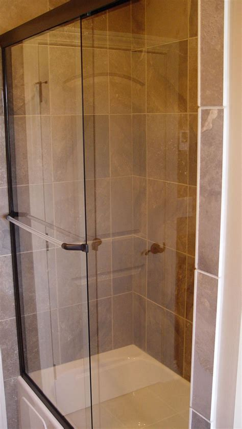 Frameless Shower Doors For Fiberglass Showers by Custom Shower Doors Etched And Painted