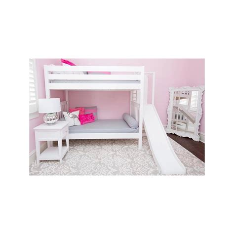 Bunk Bed W Slide Poof Maxtrix Bunk Bed W Ladder Slide Solid Maple