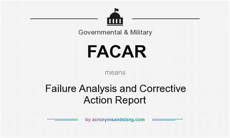 Failure Reporting And Corrective System Template What Does Facar Definition Of Facar Facar Stands
