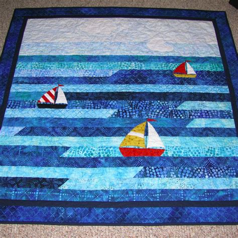 boat bed patterns sailboat jellyroll baby quilt quiltsby me