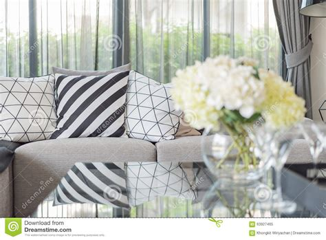 white couch with pillows modern living room with black and white pillows on grey