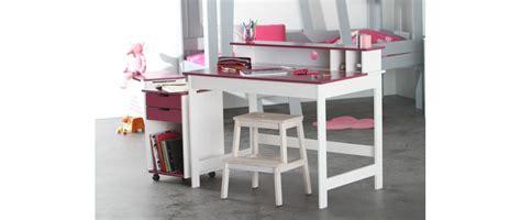 bureau enfant iléo blanc et bureau enfant blanc fushia crea miliboo