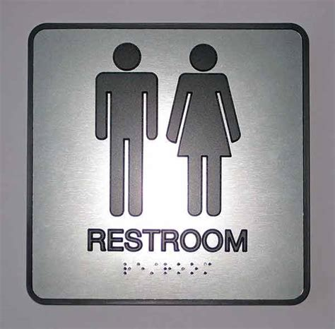 bathroom signages ada grade 2 braille signs customized braille office signs
