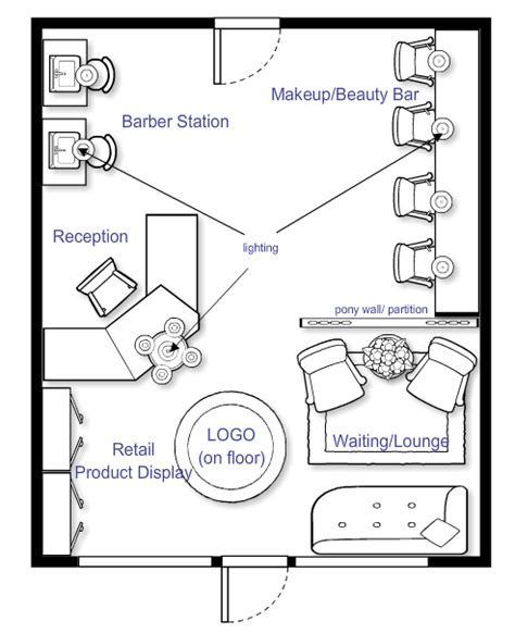 interior design layout sle i really like this one salon ideas pinterest salons