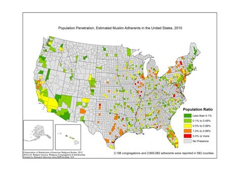 most populated state in usa most and least muslim states in america photos huffpost