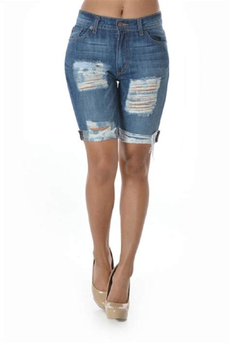 Denim Home Decor by Gg Jeans Destroyed Bermuda Shorts From Missouri By Domi