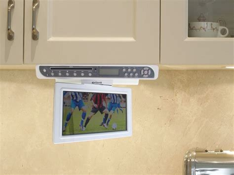 kitchen televisions under cabinet 30 best kitchen tvs flipdown tv pop up tv cabinet door