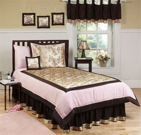 Abby Rose Pink And Brown Children S Bedding 4 Pc Twin Pink And Brown Bedding