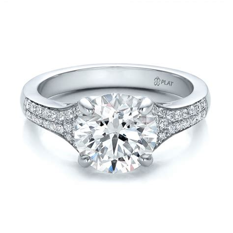 custom micro pave engagement ring 100571 bellevue