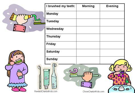 printable tooth brushing reward chart reward charts for healthy teeth