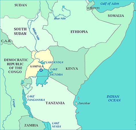 yourchildlearns africa map htm print this map of uganda