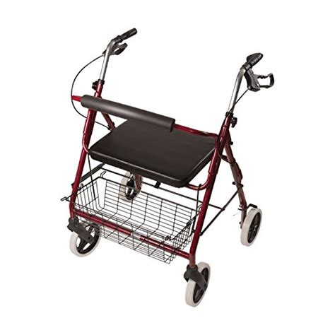 walker with seat and storage duro med wide rollator walker folding light weight