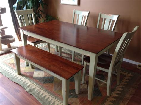 staining parawood parawood shaker table and chair set with antiqued basll