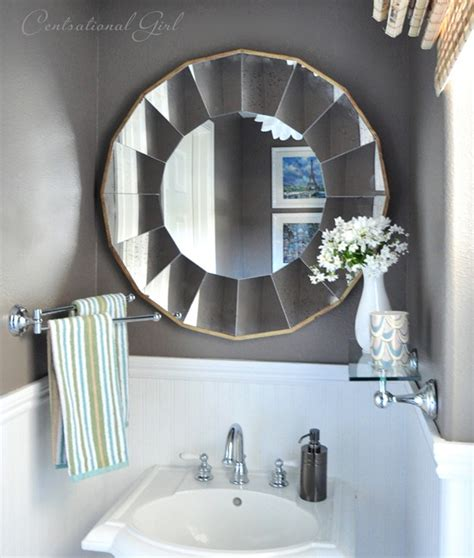 Mirrors For Powder Rooms - polished powder room centsational