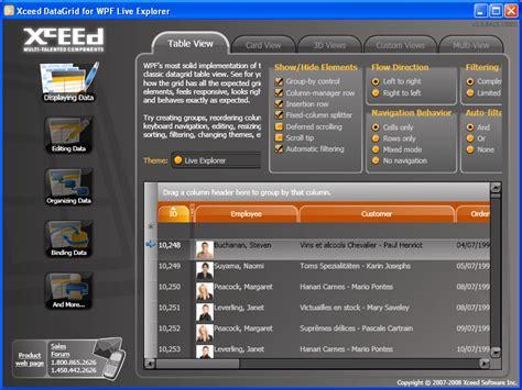 wpf theme editor tutorial xceed datagrid for wpf standard
