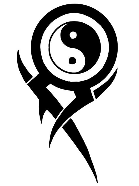 quot ying yang tribal quot stickers by graphicoracle redbubble
