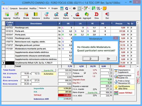 preventivo carrozziere soul software gestione perizie auto infortunistica stradale