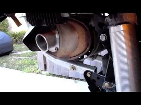 2012 can am renegade exhaust mod how to and sound clip