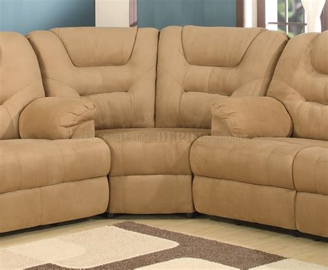 plush recliners beige easy rider plush fabric modern reclining sectional sofa
