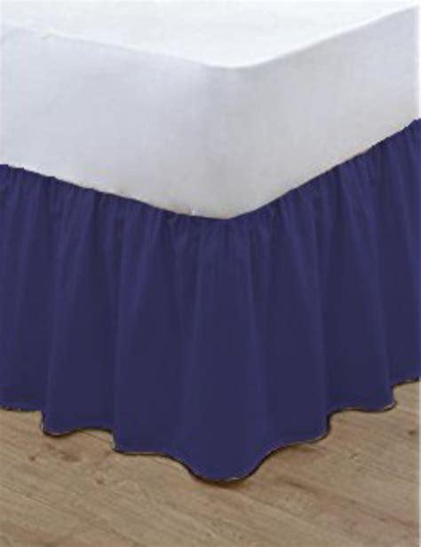 plain bed linen poly cotton base valance frilled plain bed sheets bed