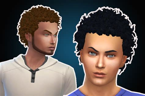 black curly hair sims 4 the sims 4 close curls hairs hairstyle new mesh male