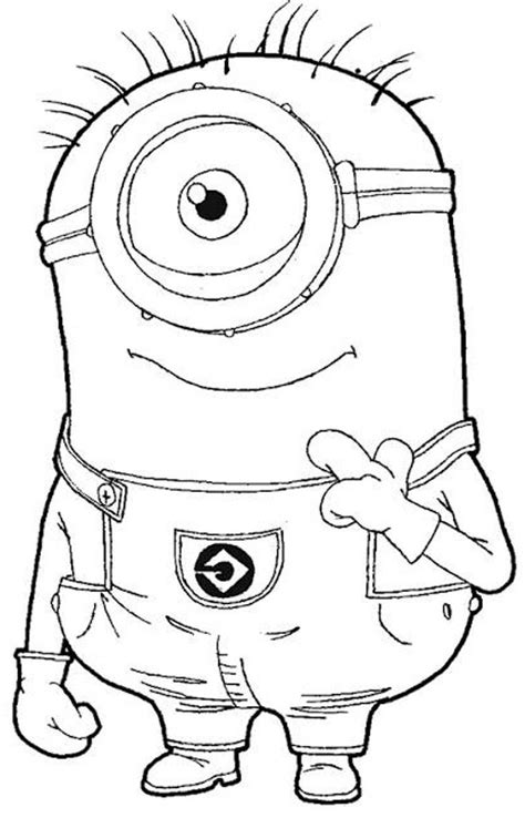Download And Print One Eye Minion Despicable Me Coloring Top 25 39despicable 239 Coloring Pages