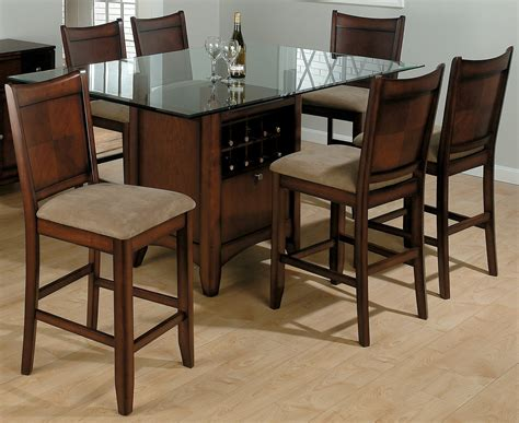 Fancy Wooden Dining Table Design With Square Clear Glass Design Of Wooden Dining Table And Chairs