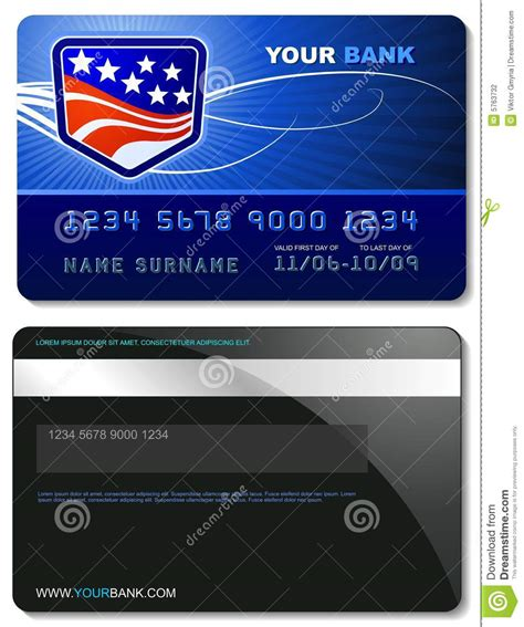Visa Credit Card Template Vector Credit Card Template Stock Photography Image 5763732