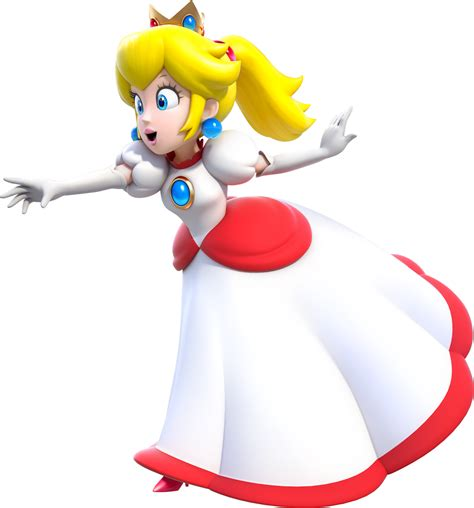 Free D Princess Peach Coloring Pages