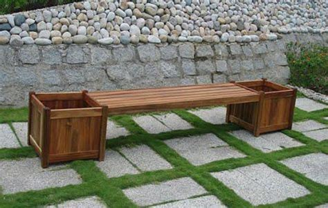 flower pot bench plans free wooden planter bench plans quick woodworking projects