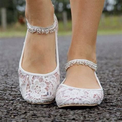 White Lace Flats For Wedding by Shoes Wedding Flats Lace Ballet Flats White Lace