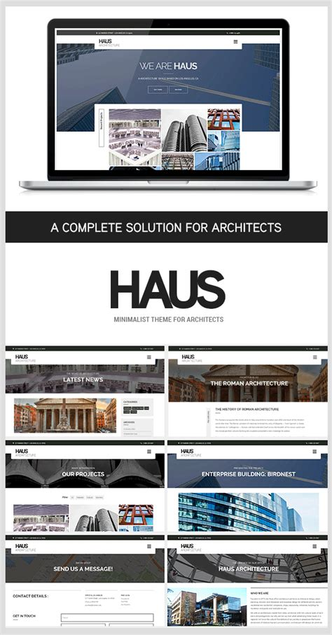 theme wordpress architecture download haus architecture theme for architects nulled