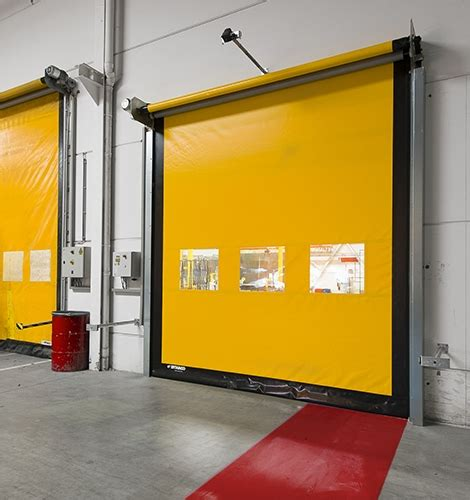 High Speed Roll Up Door by Large Interior High Speed Roll Up Door Dynaco M2 Compact