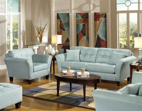 blue couch and loveseat light blue fabric modern sofa loveseat set w wood legs