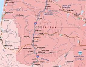 douglas county oregon color map