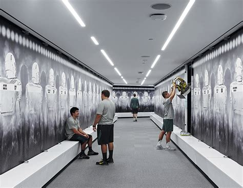 sports lockers for rooms inside the modern team locker room athletic business