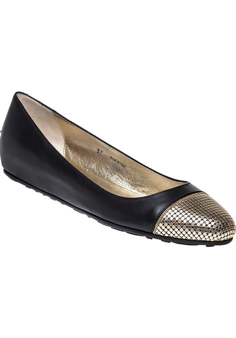 shoes flats jimmy choo waine leather ballet flats in black lyst