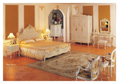 Antique Hand Carved Wood Furniture Baroque Leaf Gilding Bedroom Furniture Free Shipping