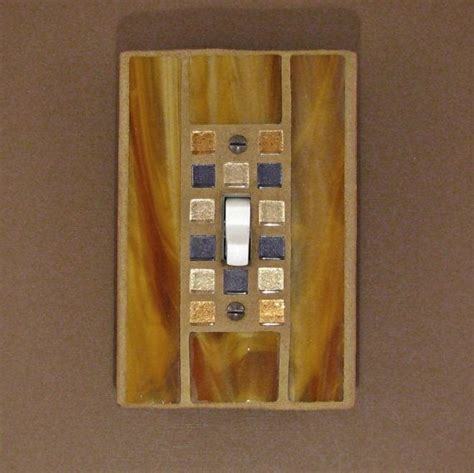 gold light switch covers mosaic stained glass switch cover gold light switch